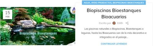Biopiscinas Bioestanques Bioacuarios aydoagua