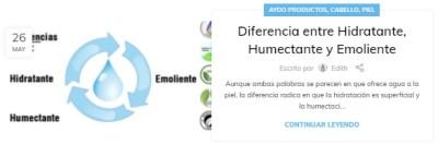 Diferencia entre Hidratante, Humectante y Emoliente aydoagua