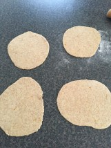 Rolled out Khameer bread dough
