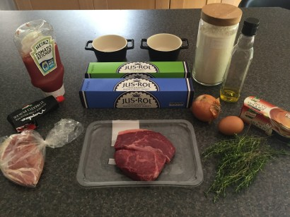 Ingredients for Aussie meat pies