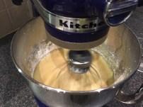 Making Tres leches (Three milks cake)