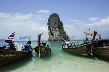 Longtail boats in the Andaman Sea