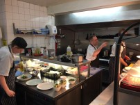The kitchen during lunchtime service