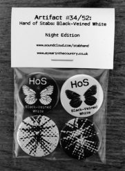 Hand of Stabs-Black-Veined White-Night Edition-badge set-A Year In The Country
