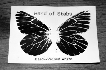 Hand of Stabs-Black-Veined White-Night Edition-sticker-A Year In The Country