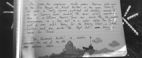 Was Ist Das handwritten review-The Quietened Bunker-A Year In The Country
