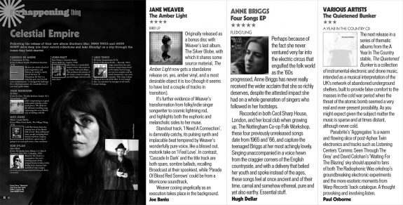 Shindig magazine-issue 59-Emma Tricca-Jane Weaver-Anne Briggs-The Quietened Bunker-A Year In The Country