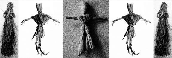 Traditional corn husk dolls