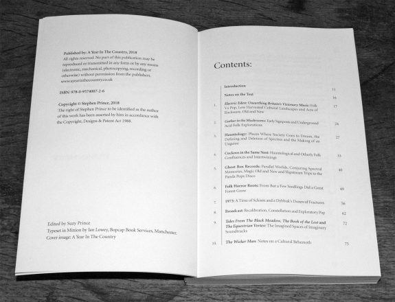 A Year In The Country-Wandering Through Spectral Fields book-Chapter 1 to 10 contents list copy