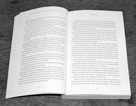 A Year In The Country-Wandering Through Spectral Fields book-pages 12 and 13