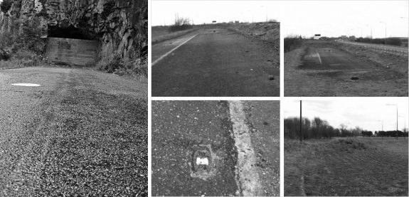 Motorway-abandoned road photographs