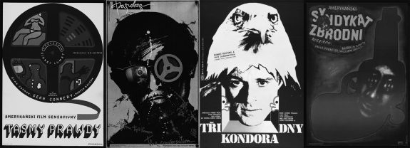 The Anderson Tapes-The Conversation-3 Days of the Condor-The Parallax View-Polish-Soviet-Eastern European film cinema posters