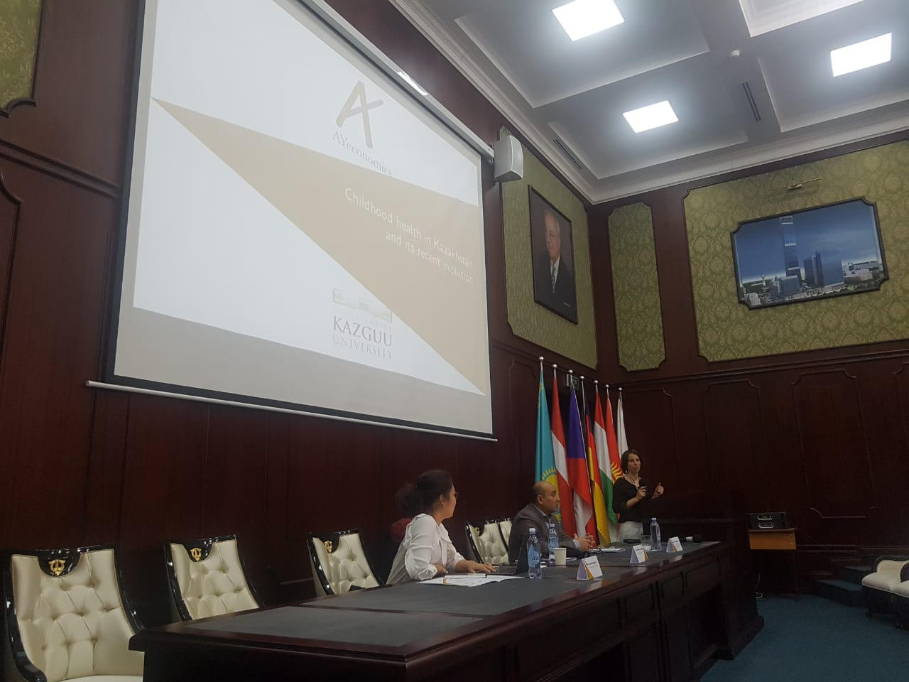 "AYeconomics presents the preliminary results of the project ""Healthy childhood and socioeconomic status in Kazahstan"" in Astana (September 2018)"