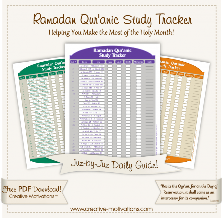 Ramadan-Tracker-FREE-PDF printable, ayeina, creative motivations, memorise quran tracker, quran log, hifdh diary