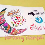 free printable by ayeina eid mubarak card to color for kids