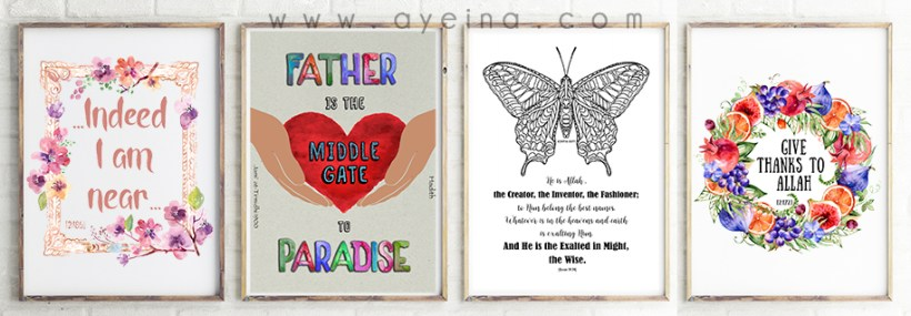 illuminating young minds hand drawn art creative muslimah father paradise butterfly coloring quranic reflections thankful to Allah near