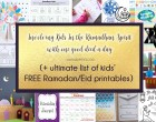 Involving Kids in the Ramadan Spirit (+ FREE printables)
