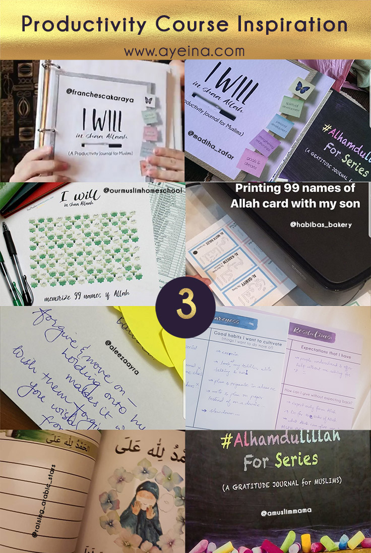 productivity journal for Muslims, Islamic journal, journal for muslims, muslim journal, self help for muslims, personal development, spiritual development, journal to strengthen your relationships, halal relationships, goals and dreams, financial independence, perspective shift, gratitude journal, dua list, dua diary, dua planner, i will in shaa Allaah, motivational journal, dream journal, stress management, mood tracker, prayer tracker, charity chart, hajj budget plan, adhkaar chart, fasting plan, facing fears, istikhara, 99 names of Allah, memorization tracker, dawah plan, positive affirmations, social life tracker, skill development, self love, self exploration, self awareness, sunnah log, health care goals, self care goals, declutter plan, ayeina, samina farooq, ayesha farooq, zayeneesha, i will in shaa Allaah, motivation from quran and sunnah, positivity journal, in shaa Allaah journal, shukr journal, istikhara dua free printable, free islamic print, download free islamic wallpaper, free printable for muslims, free dua printable, print free dua and learn, learn dua, get dua accepted, Allah answers duas, how to not do istikhara, dreams after istikhara, dreams of a muslim, interpretation of dreams in islam, seeking guidance from Allah, istikhara for marriage, istikhara for job, how to do istikhara, teach sadaqah to kids - charity in islam - zakat - 5th pillar of islam, stress management in islam, maintaining kinship ties in islam, facing your fears