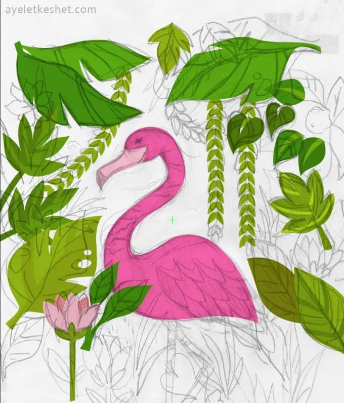 flamingo_sketch_pentool