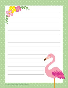 free summer printables - writing paper 3