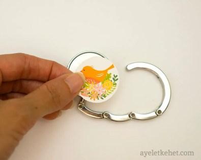 DIY handbag hooks - step 2