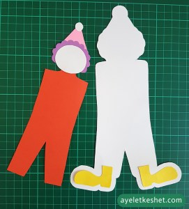 how to make a dancing clown out of card stock - step 3