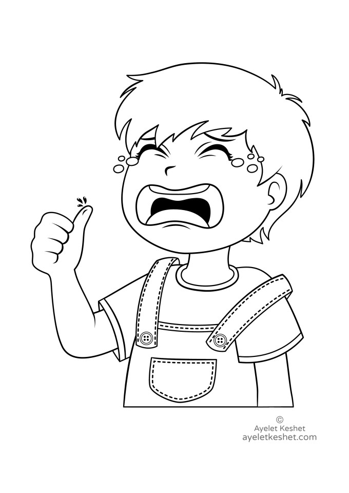 Free Coloring Pages About Feelings Ayelet Keshet