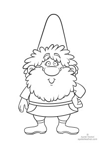 coloring pages about fairy tales - dwarf