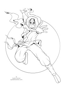 coloring pages about Japan - ninja