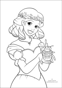 coloring pages about fairy tales - birthday princess