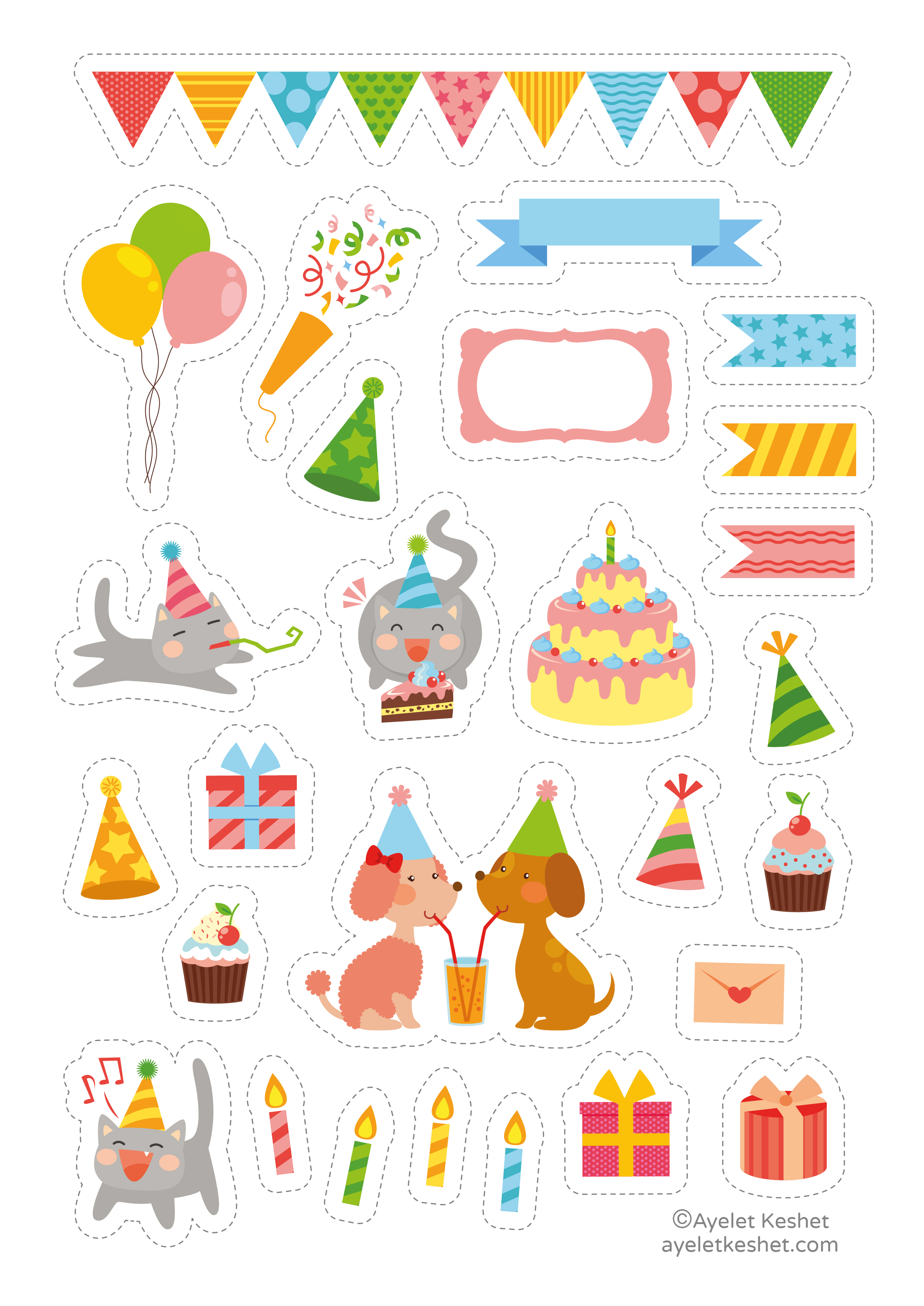 It is a picture of Crush Free Printable Birthday Labels