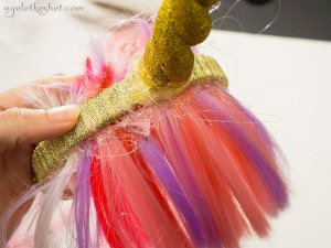 DIY unicorn horn headband with bangs - step 13