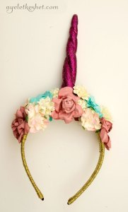 DIY unicorn horn headband with bangs