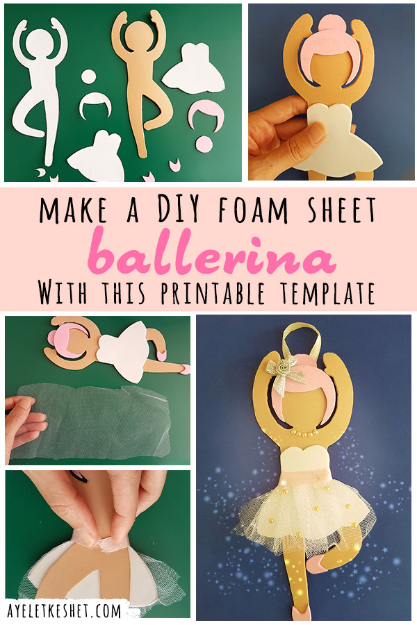 craft foam sheet DIY ballerina dancer