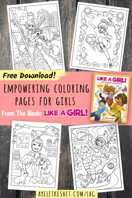 Free printable coloring pages with an empowering message for girls!