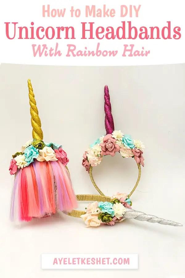 diy unicorn horn headband with bangs ayelet keshet
