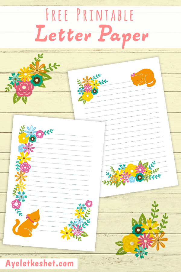graphic regarding Printable Sationary identified as Totally free printable letter paper - Ayelet Keshet