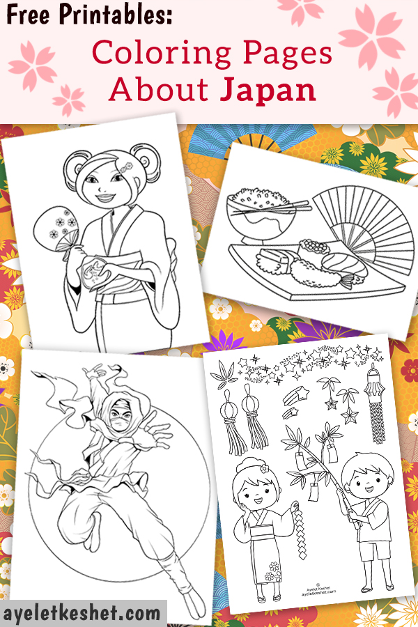 Free Coloring Pages About Japan For Kids Ayelet Keshet