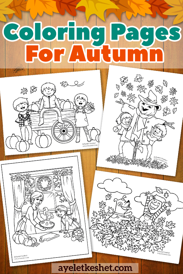 free coloring autumn day | Free Fall Coloring Pages for Kids ... | 900x600
