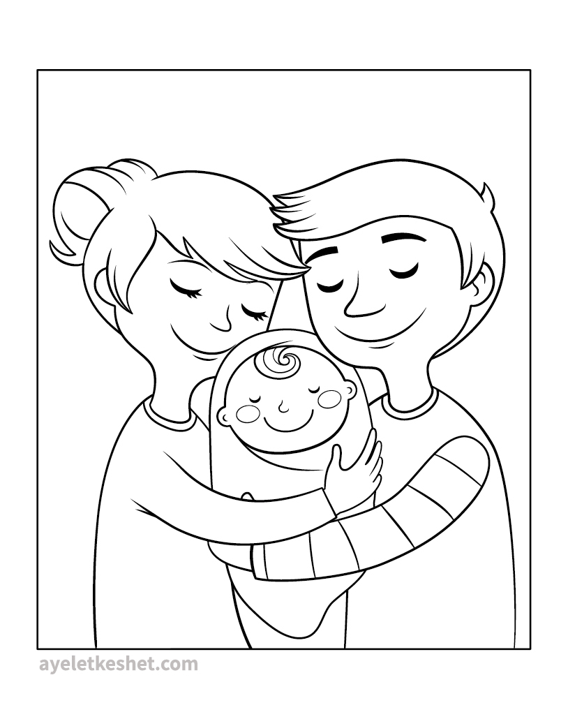 Free Coloring Pages About Family That You Can Print Out For Your Kids