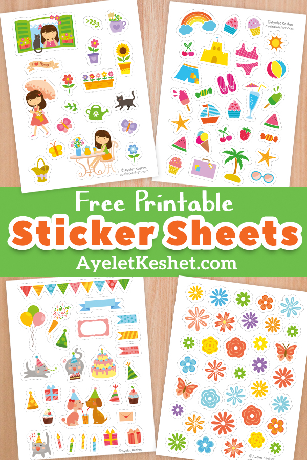 graphic relating to Free Printable Stickers titled Absolutely free printable stickers - Ayelet Keshet