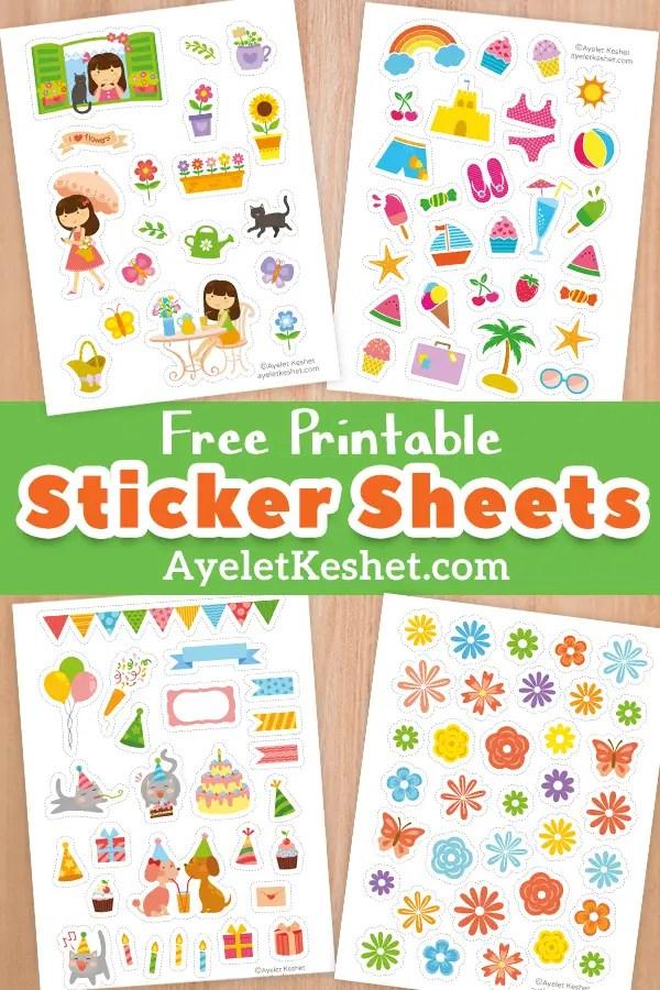 photo relating to Printable Sticker identified as Totally free printable stickers - Ayelet Keshet