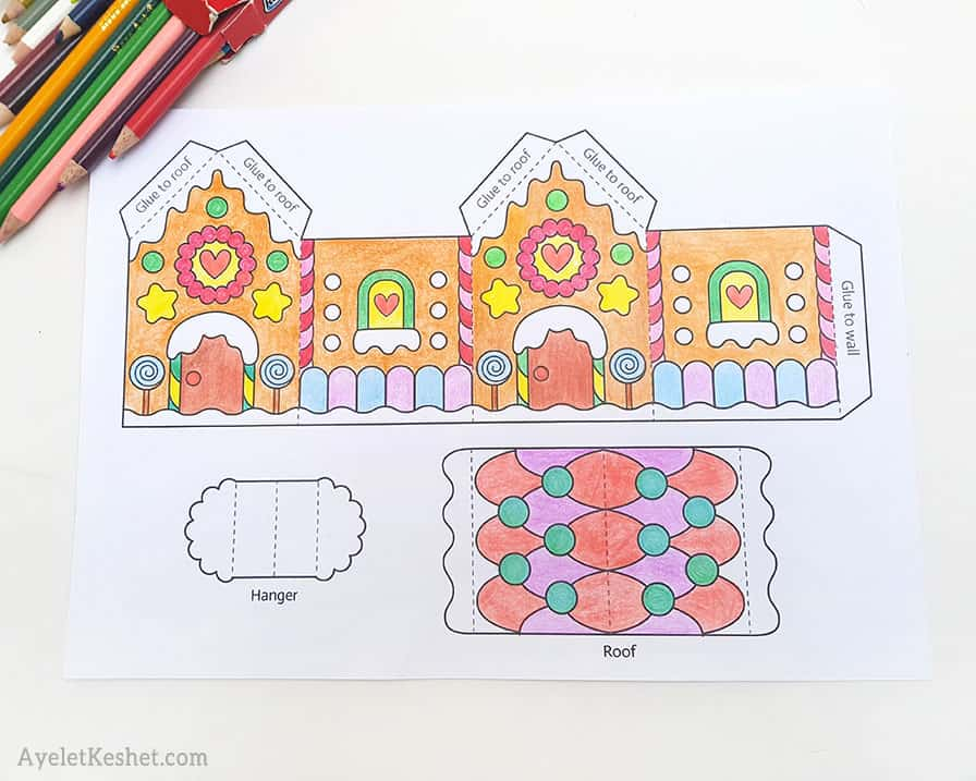 - Printable Gingerbread House Template To Color - Ayelet Keshet