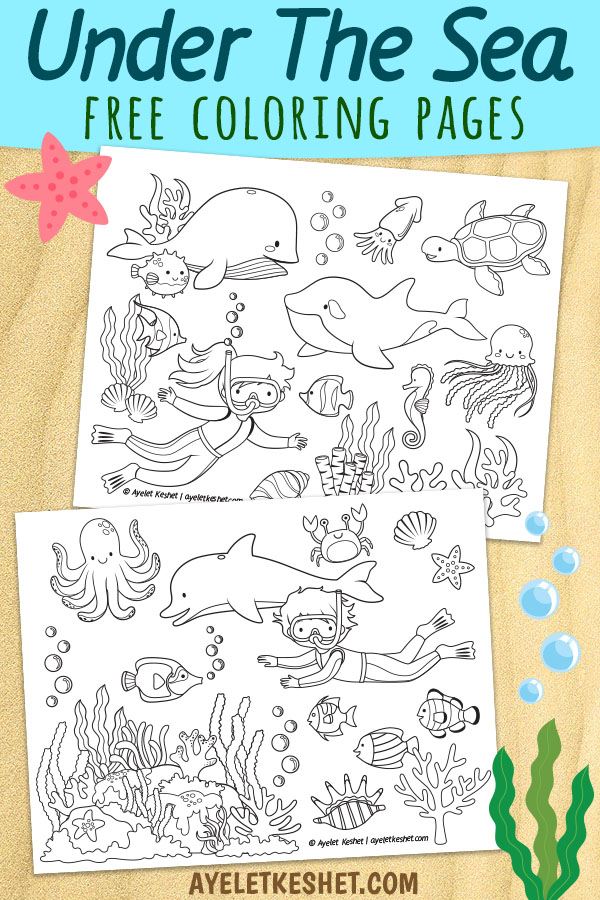 - Under The Sea Coloring Pages (free Printables) - Ayelet Keshet