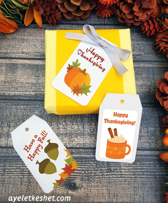 Printable Thanksgiving Tags Cute And Easy Ayelet Keshet