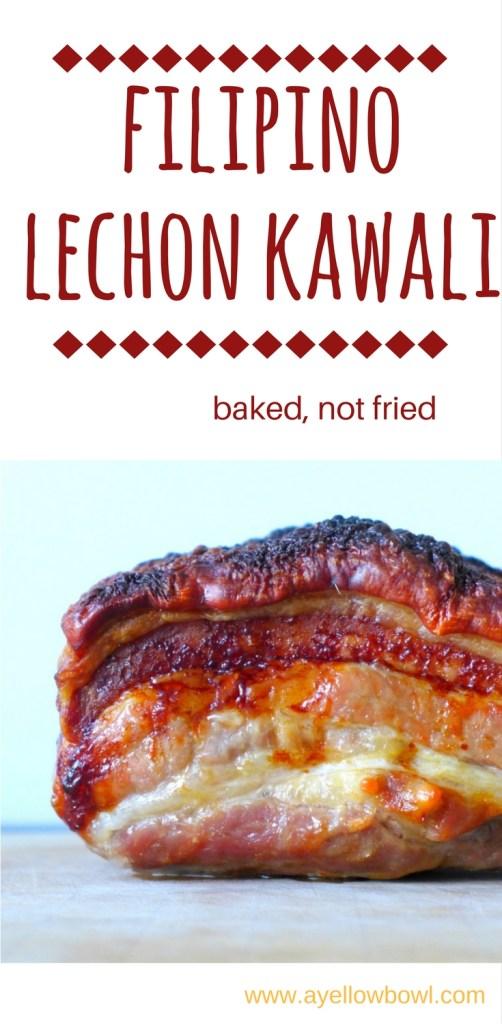 Filipino Lechon Kawali in oven