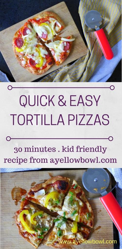 Quick & Easy Tortilla Pizzas