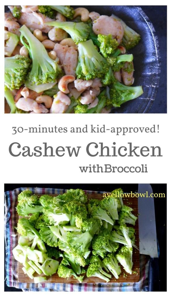 easy stir fry cashew chicken and broccoli