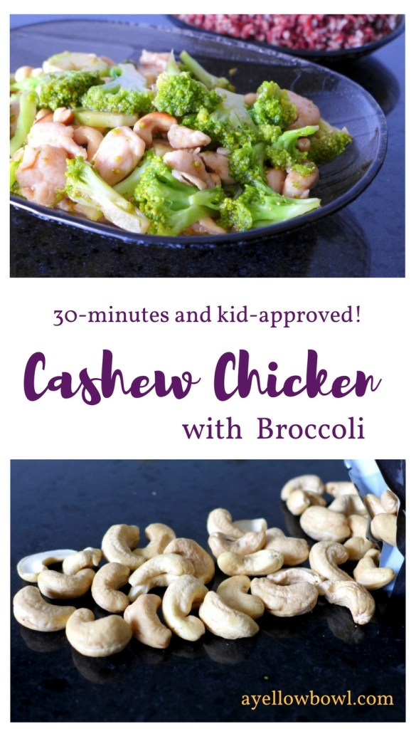 cashew chicken with broccoli and cashew nuts