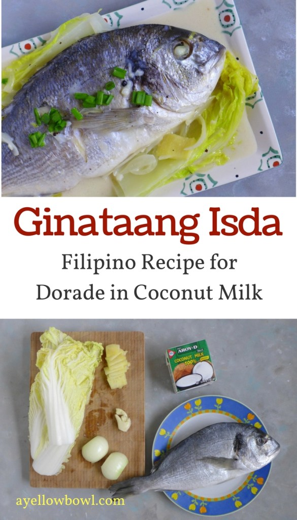 Fish cooked in coconut milk (ginataang isda)
